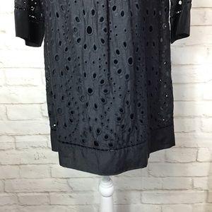 Ella Moss Dresses - ELLA MOSS Eyelet Cotton/Silk blend mini dress